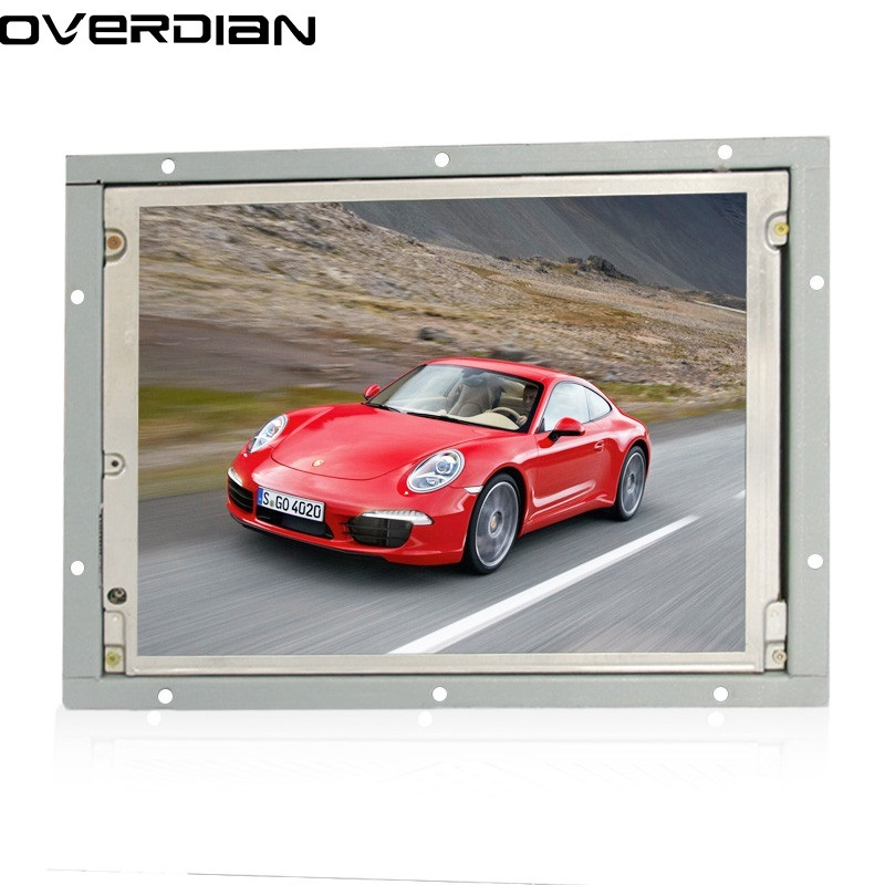 цена 8.4/8 inch Industrial Control Lcd Monitor Vga/DVI Interface Metal Shell Open Frame Non-Touch Screen 800*600 4:3