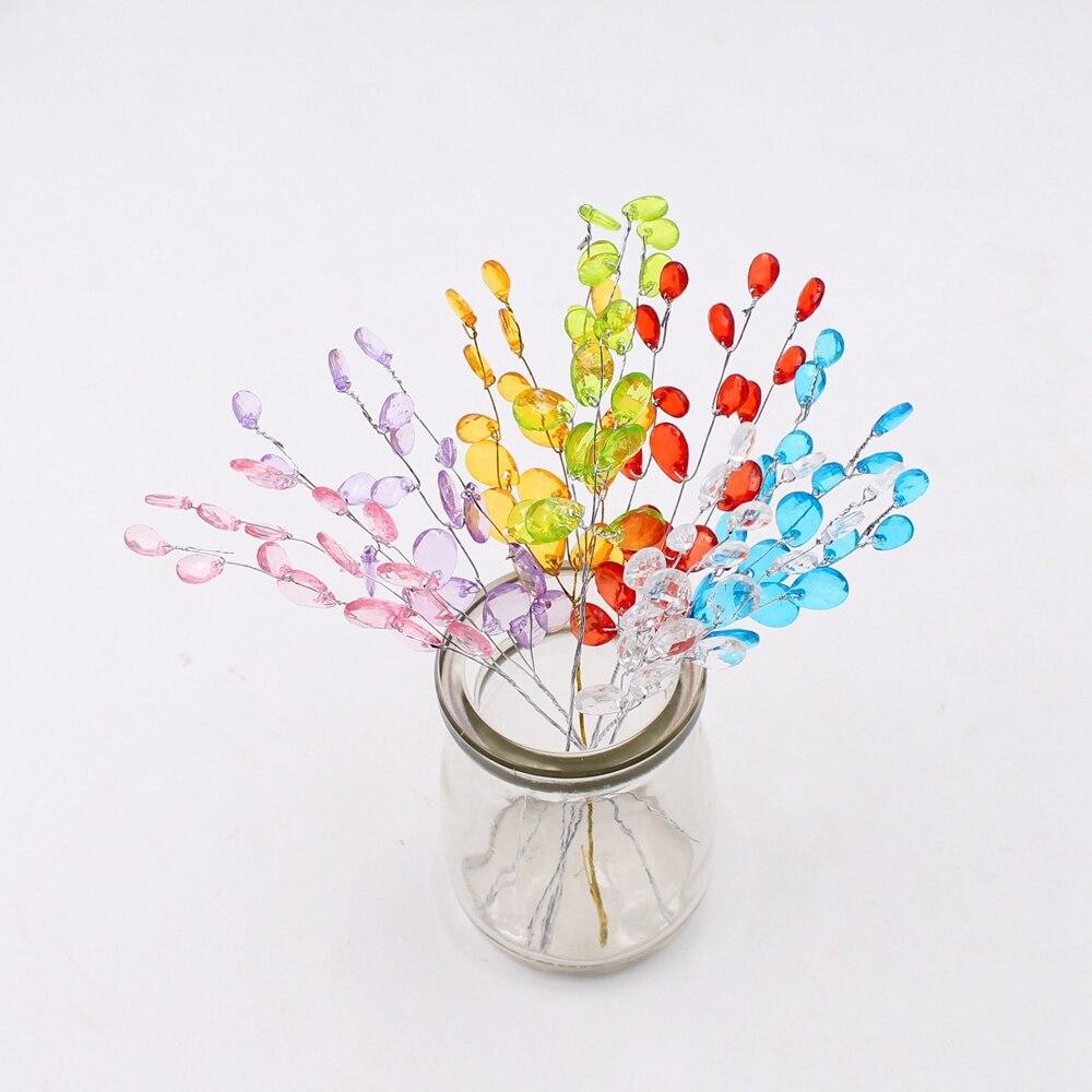 Шт. 10 шт. искусственный акриловые капли цветок стволовых Кристалл ручной работы свадебные Рождество украшения DIY ВЕНОК овец ремесленных цветок