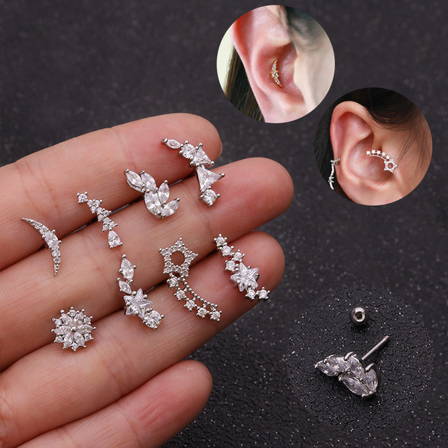 Imixlot New Various Cartilage Piercing Helix Jewelry Cz Ear Stud Tragus Cartilage Conch Earring Stud.jpg 640x640 - Imixlot New Various Cartilage Piercing Helix Jewelry Cz Ear Stud Tragus Cartilage Conch Earring Stud