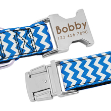 Dog Collar Nylon Engraved Customized Puppy ID Tag Collar, Anti-Lost Personalized Nameplate Collars Adjustable For Medium Large Dog
