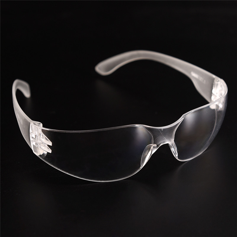 One Piece Safety Glasses Lab Eye Protection Eyewear Clear Lens Safety Goggles Supplies
