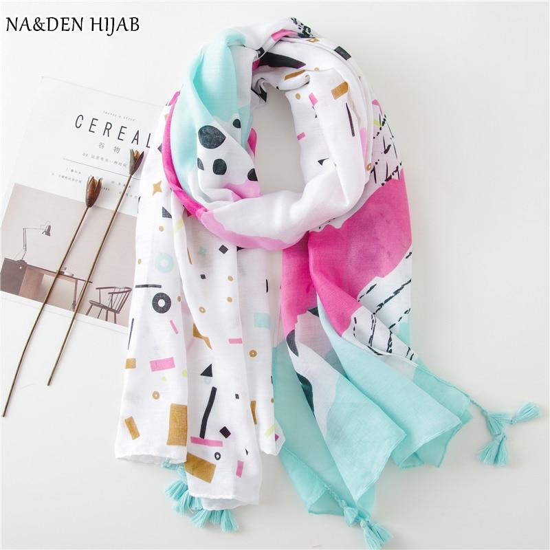 NEW animal scarves flamingo print shawl Autumn pashmina tassel popular brand design women fashion muffler 10pcs