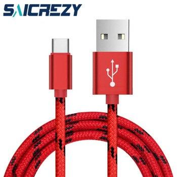 Carcasa chapada en oro 1m 2m tipo C cargador USB cables de nailon para samsung galaxy s8 s9 a3 a5 a7 2017 a9s OnePlus 6t 6 5 2a carga rápida