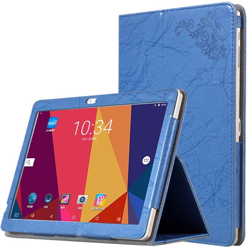 Para Chuwi Hi9 air Tablet caso de cuero de la PU plegable de pie con la mano titular cubierta magnética para 10,1