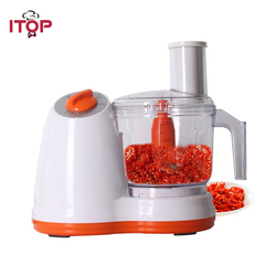 ITOP Kitchen Multifunctional Electric Food Processor Vegetable Meat Pepper Cutter Potato Carrot Onion Slicer Garlic Peeler