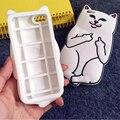 3d moda usted rock blanco lindo corna cat silicona suave del teléfono case para iphone 5 5s 6 6 s plus animales de dibujos animados cubierta ripndipp ec972