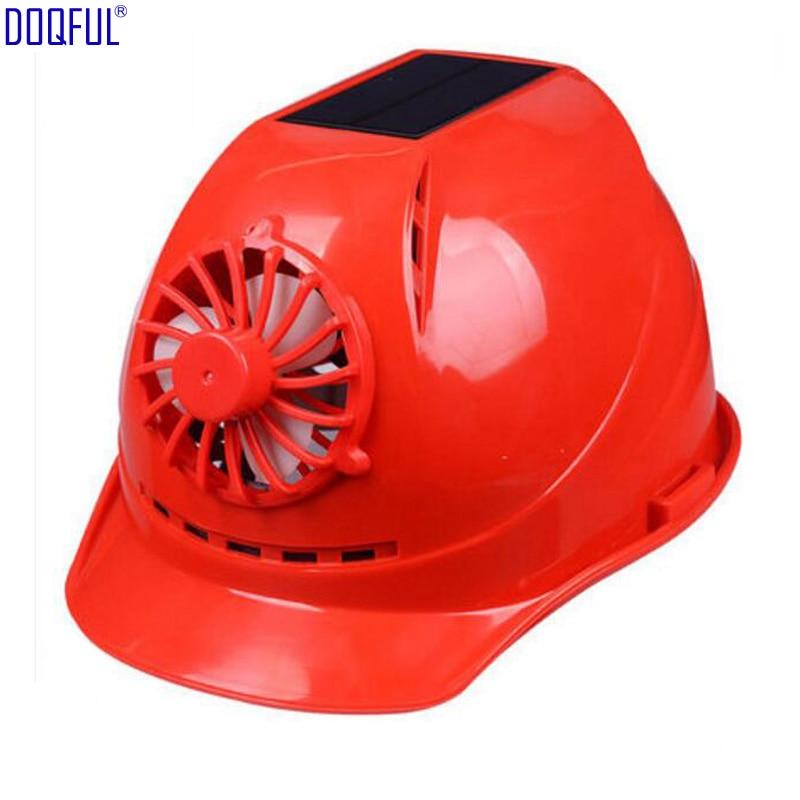 Solar Panel Fan ABS Crash Hard Helmet Li Battery Indoor Outdoor Work Safety Bump Cap Casco De Seguridad Sunscreen Hat Breathable