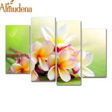 New Modular Pictures Modern Flower Paintings Canvas Art Prints 4 Piece Home Wall Decor Picture Sets For Living Room H159 modular