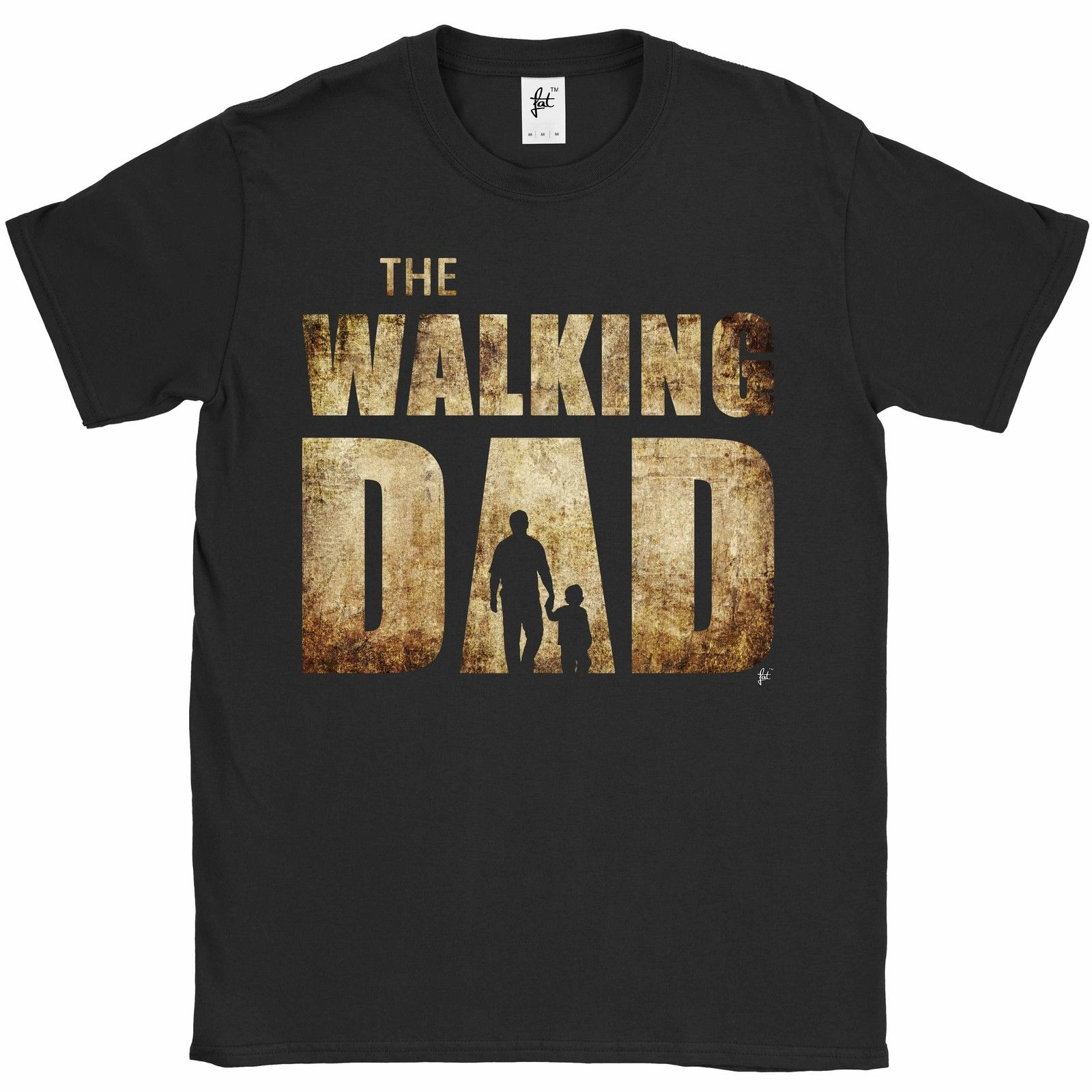 The Walking Dad Parody Father Son Fathers Day Mens T-Shirt O Neck T Shirt Short Sleeve Top Tee O-Neck Cotton Tee Shirt for Men