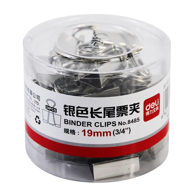 19mm Liras Purse Silver Purse Dovetail Clip Supplies Metal Purse Small Clip Deli 8485 5# 19mm Metal Binder Clips