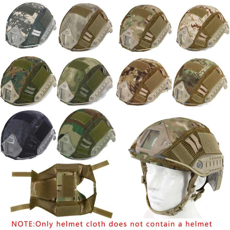 Hoofdomtrek 52-60cm Helm Tactische Helm Cover Airsoft Paintball Wargame Gear CS FAST Helm Cover