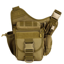 Купить с кэшбэком 2017 New Men Army Style sports Cross Body Pack MEN'S Casual Single Strap Sling One Shoulder Camping Bags Camera Backpack