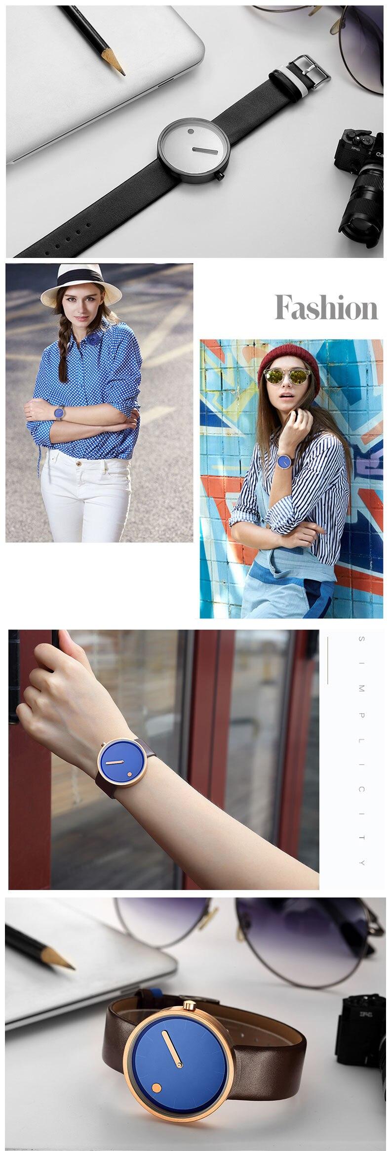 Luxury Designer Brand Quartz Watch Women Leather Casual Ladies Simple Wrist watch Girl Clock Female Creative Gift  relogio 10