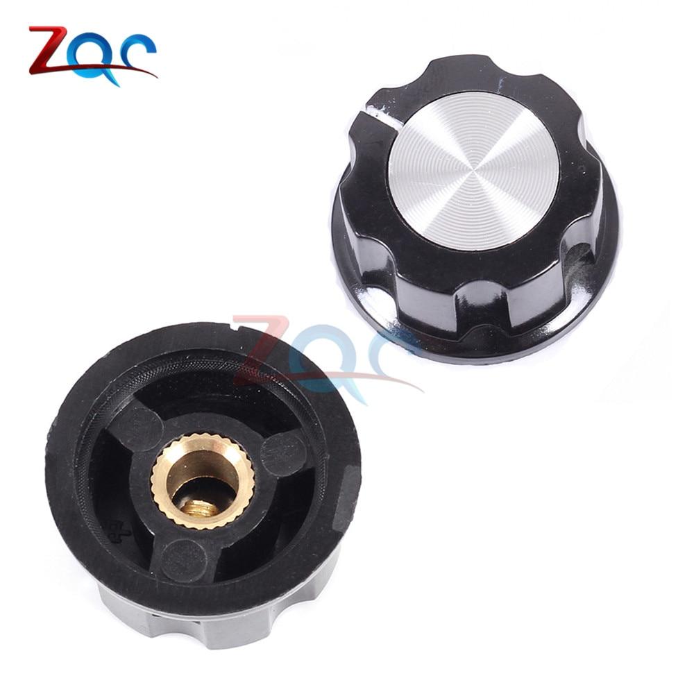 10pcs MF-A03 Potentiometer Knob Cap Inner 6.35mm 15x28mm Rotary Switch Bakelite Knob For RV24 3590S WHT118 WX050