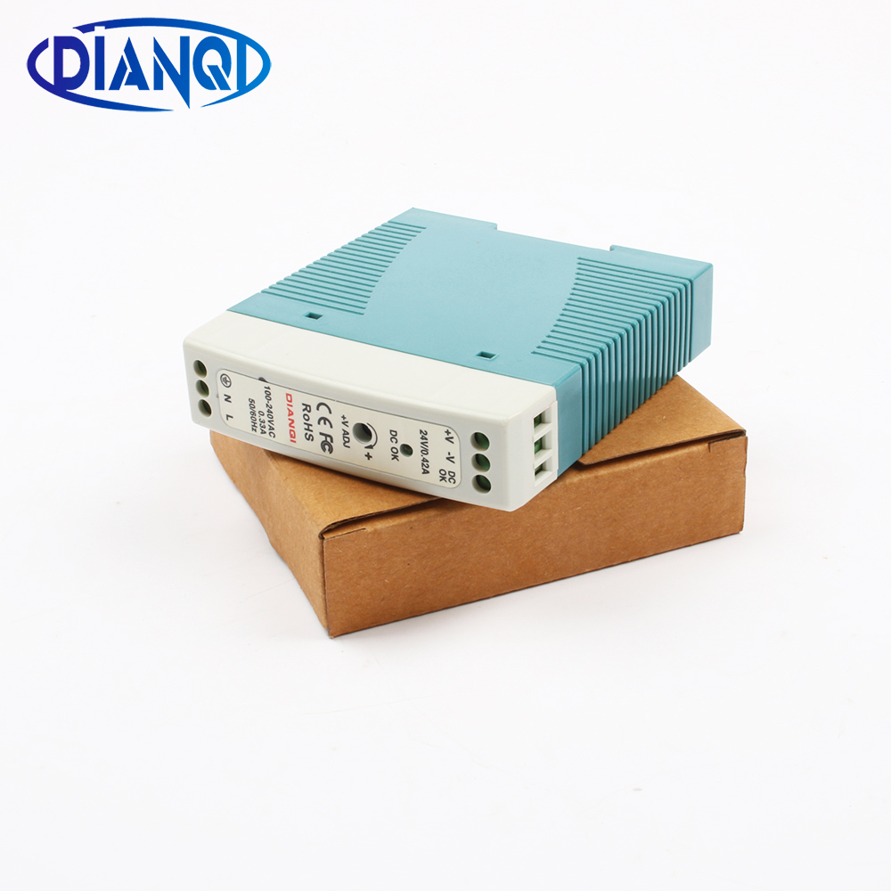 Switching power supply MDR-10 0.4A 24V 10W Din Rail power supply ac-dc driver AC/DC wide constant voltage LED strip 110V 220V mini switching power supply mdr 100 2a 48v 100w din rail power supply ac dc driver voltage regulator power suply 110v 220v