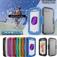 Fashion case for iphone 7 7 plus водонепроницаемый полное тело оснащен защитой кристалл крышка плавание ясно тпу fundas сумка capa mn888