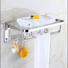 304 stainless steel towel rack lavatory shelves European style bathroom hardware pendant set