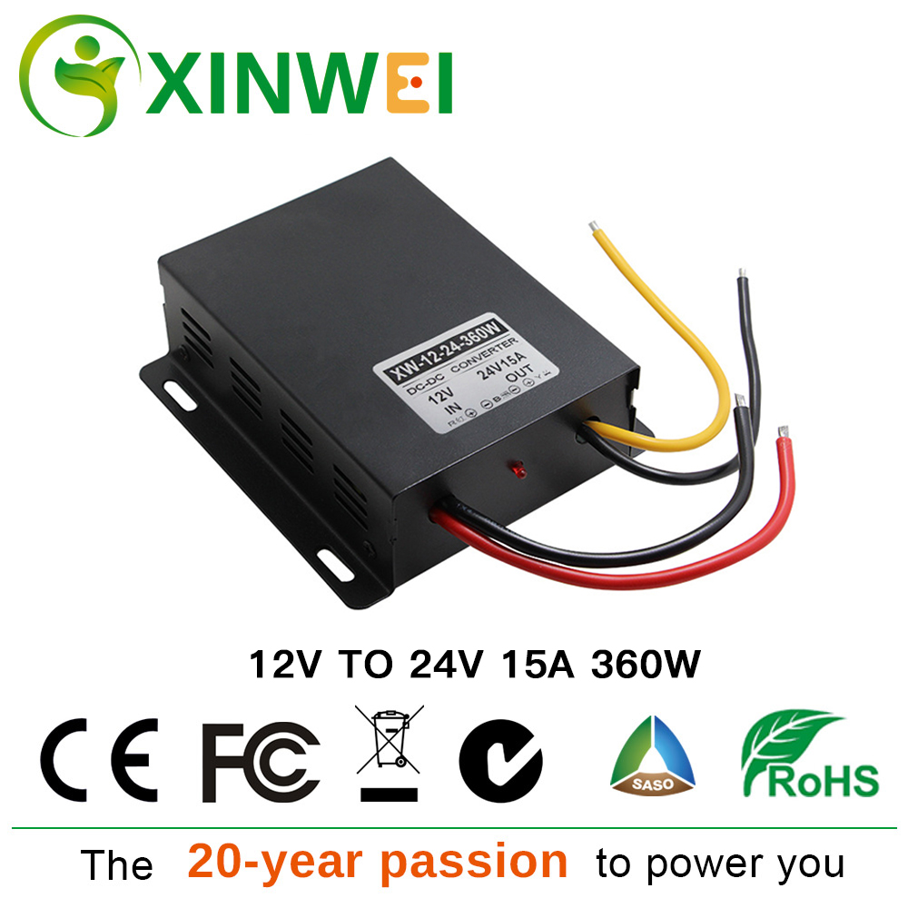 XINWEI DC 12V TO DC 24V/19V/13.8V Step Up Inverters Converter 15A/20A/25A 360W/380W/345W Power Supplier Large Iron ShellXINWEI DC 12V TO DC 24V/19V/13.8V Step Up Inverters Converter 15A/20A/25A 360W/380W/345W Power Supplier Large Iron Shell