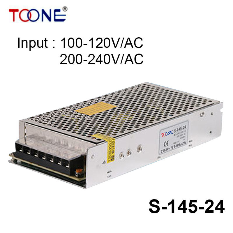 S-145-24 Hot selling cheap price 145w 6A single output 6amp professional switching power supply 24v CE approved ce 101 r5 145 петербург