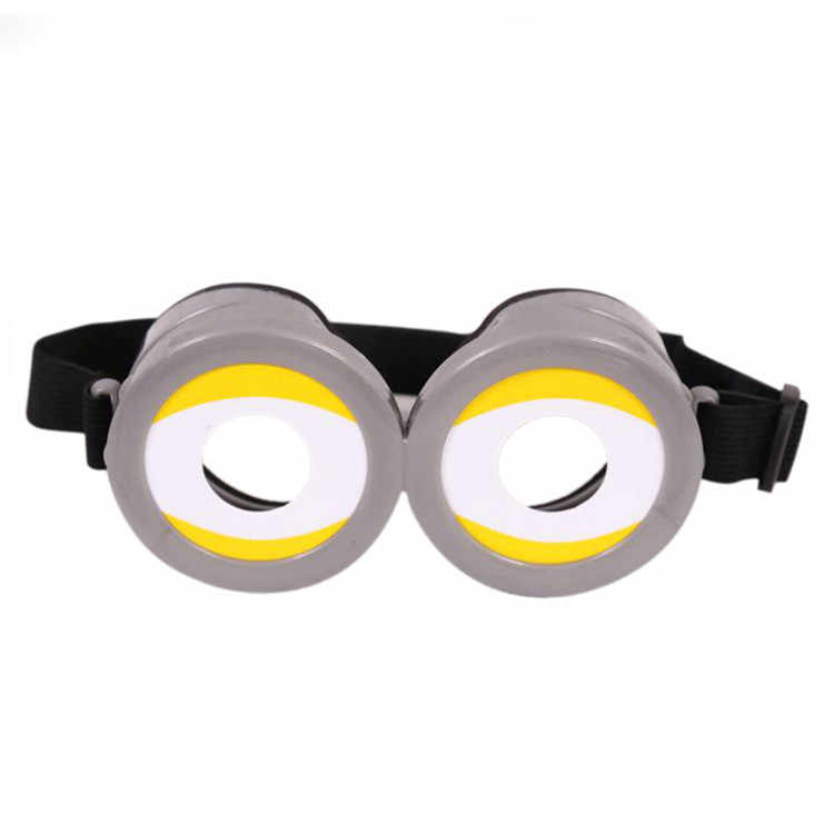 New Party Decorative Minions Cosplay Costume Glasses Party Props 3D Funny Circular Glass Birthday Party Supplies Decoration