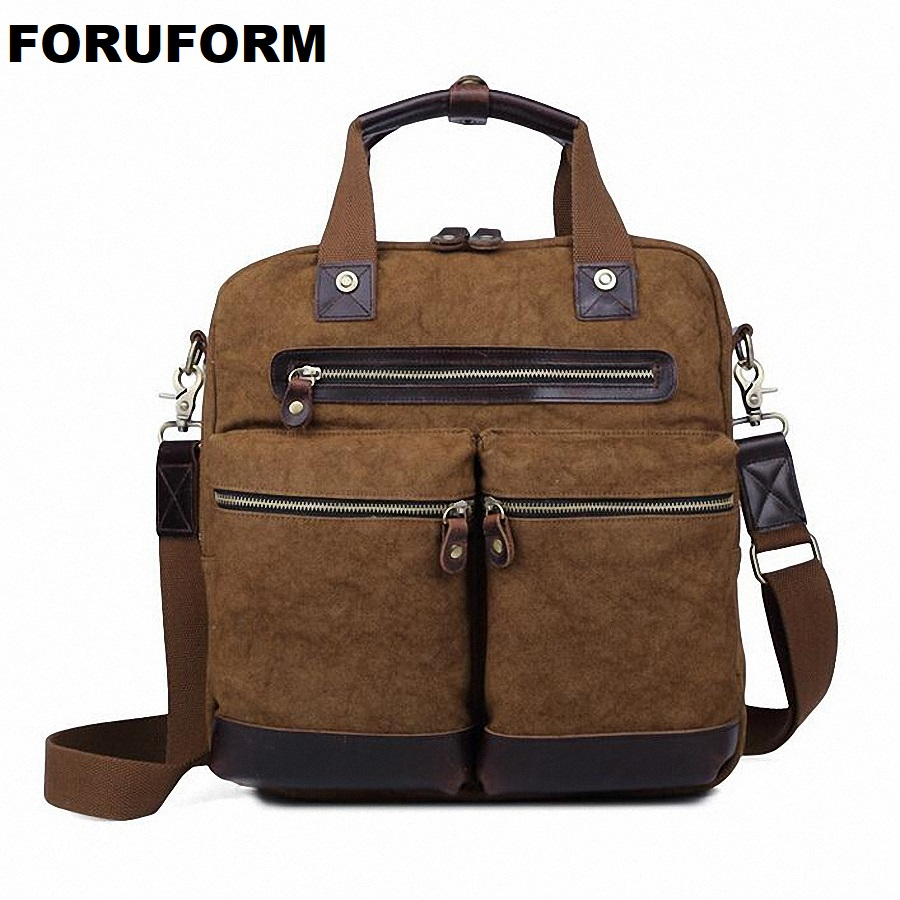 NEW Men Bag Multifunction Men Canvas 14inch Laptop Bag Casual Travel Bolsa Masculina Men's Crossbody Bag Messenger Bags LI-1630 casual canvas women men satchel shoulder bags high quality crossbody messenger bags men military travel bag business leisure bag