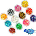 Nail Art Decorations 12colors/Lot High Quality Shiny Acrylic Nail Gel Tattoo Flakes Hexagon Glitter Rhinestones Decorations