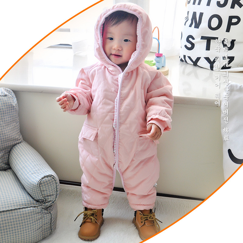 A-degree new baby winter clothes warm rompers kids one pieces Jumpsuits newborn infant girl boys outerwears baby costumes bebes new 2016 autumn winter kids jumpsuits newborn baby clothes infant hooded cotton rompers baby boys striped monkey coveralls