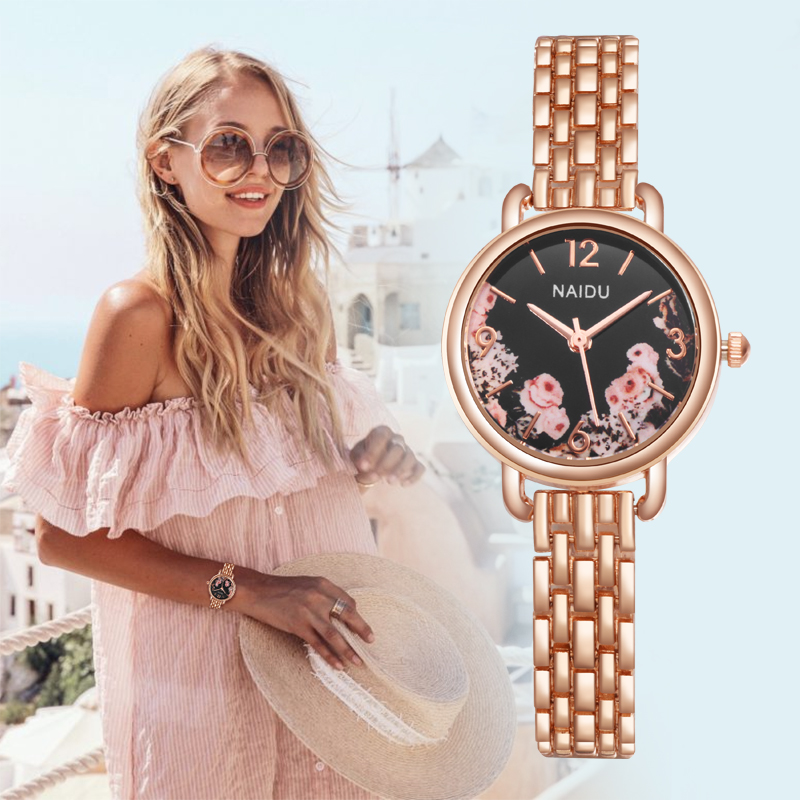 New Fashion Watches Women Luxury Stainless Steel Quartz Watch Women Dress Bracelet Watches Ladies Clock Relojes 2019 Reloj Mujer