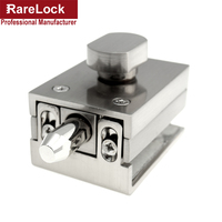 Rarelock Christmas Supplies Glass Sliding Door Latch For Women Dress Bag Store Door Office DIY I