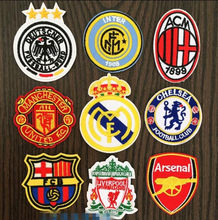 football team logo Barcelona milan Argentina Chelsea Arsenal Real Madrid iron on sew on patches iron on man boys(China)