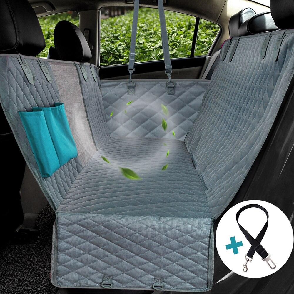 Pokrowiec na siedzenie samochodowe widok siatkowy wodoodporny nosidełko na zwierzaka tylny tył samochodu podkładka na siodełko hamak ochraniacz na poduszki z zamkiem błyskawicznym i kieszeniami
