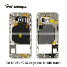 1Pcs Middle Frame For Samsung Galaxy  S6 edge plus G928F Back Chassis Plate Bezel Housing Replacemenrt Parts