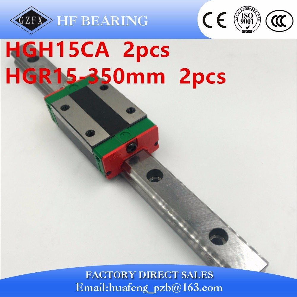 цены  HGW15CA 100% New Original HIWIN brand linear guide block for  HIWIN linear rail hgr15 350mm cnc parts