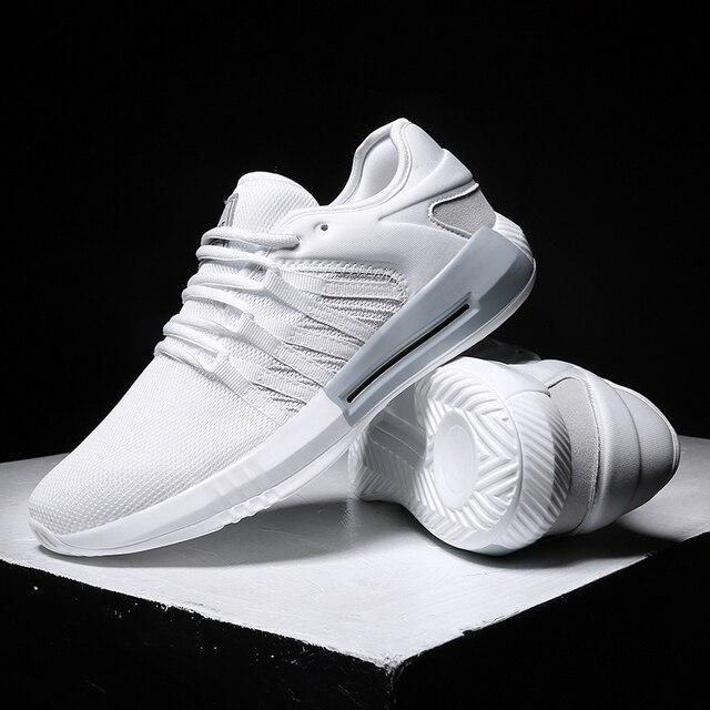 Hemmyi 2018 mùa hè người đàn ông thở mới giày thường giày thiết kế ánh sáng sneakers nam giày dành cho người lớn chaussure homme đen trắng