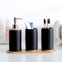 Керамические бамбуковые стаканы для ванной комнаты зубная щетка чашка Ванная комната контейнер для эмульсии кухонная посуда контейнер для жидкости для мытья посуды