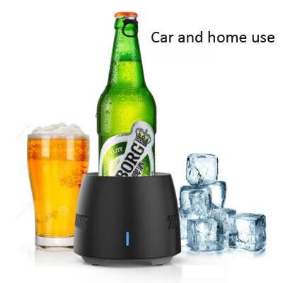 Portable Mini Refrigerator Electric Summer Drink Cooler Kettle Drink  Instant Cooling Cup Car Vehicle Heating Cooler Freezer