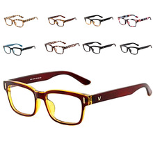 V-Shaped Box Eye Glasses Frames Brand For Men Women Luxury Computer Tr