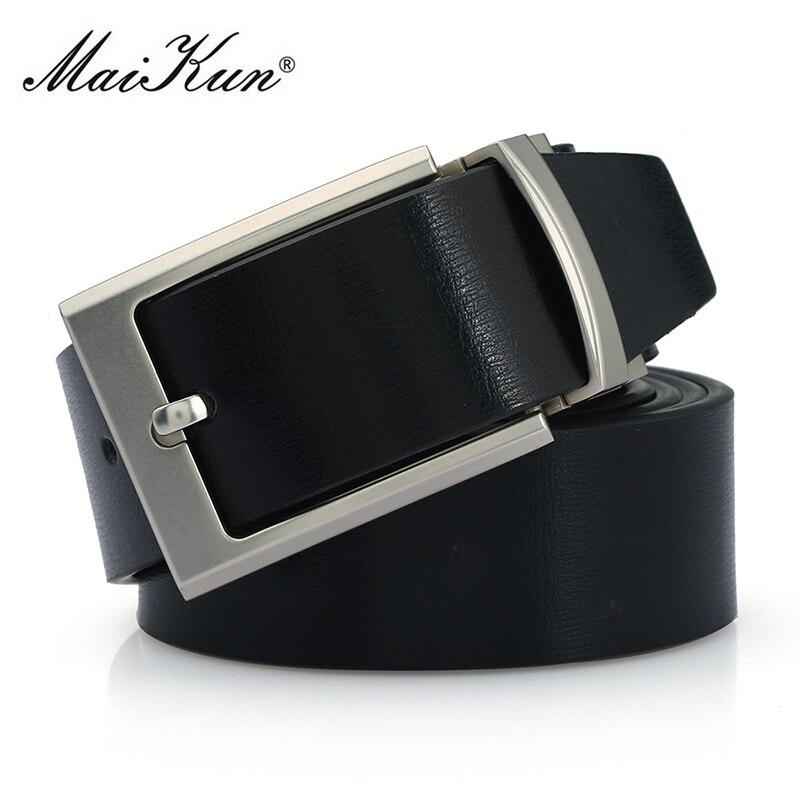 Top Quality Black Leather Designer Belts for Men Vintage Metal Pin Buckle Men's Belt Fashion Male Strap Business