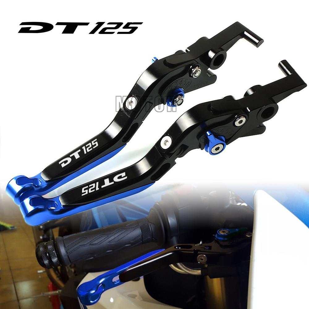 Motorcycle CNC Brake Clutch Levers Foldable For Yamaha DT125R/DT125RL/DT125RE/DT125LC MK2 MK3/DT125RR DT125 DT 125 R RL RE LC RR motorbike foldable lever for yamaha dt 125 1995 dt125 motorcycle cnc aluminum brake clutch levers adjustable folding extendable