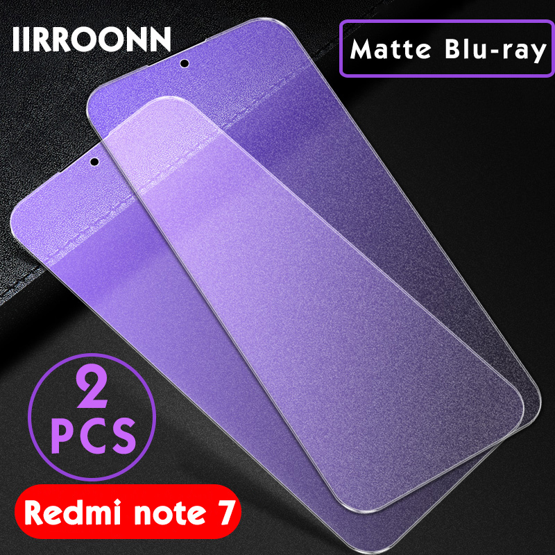 Image 3 - 2PCS Matte Tempered Glass For Xiaomi Redmi Note 7 6 Pro Screen Protector for Xiaomi Redmi note7 pro Protective Glass For Redmi 7-in Phone Screen Protectors from Cellphones & Telecommunications