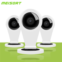 Meisort HD 720P Wifi Mini IP Camera Indoor Smart P2P Baby Monitor Two way Audio Wireless