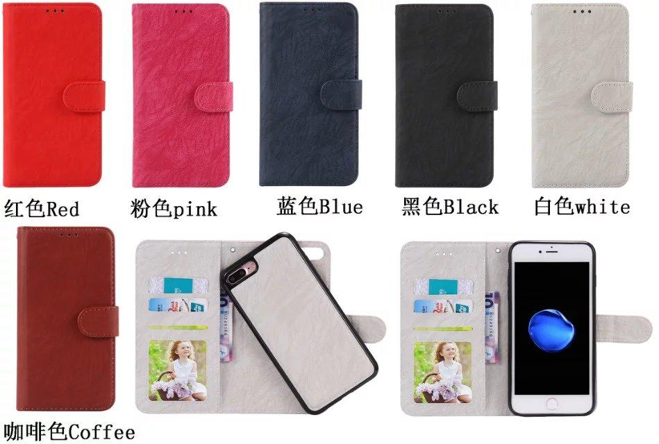 C-ку Съемная магнитная кожаный бумажник 2 в 1 Флип ТПУ чехол для iphone 8 7 6 6 S плюс 5 5S SE ретро-чехол для iPhone 7 1 шт.