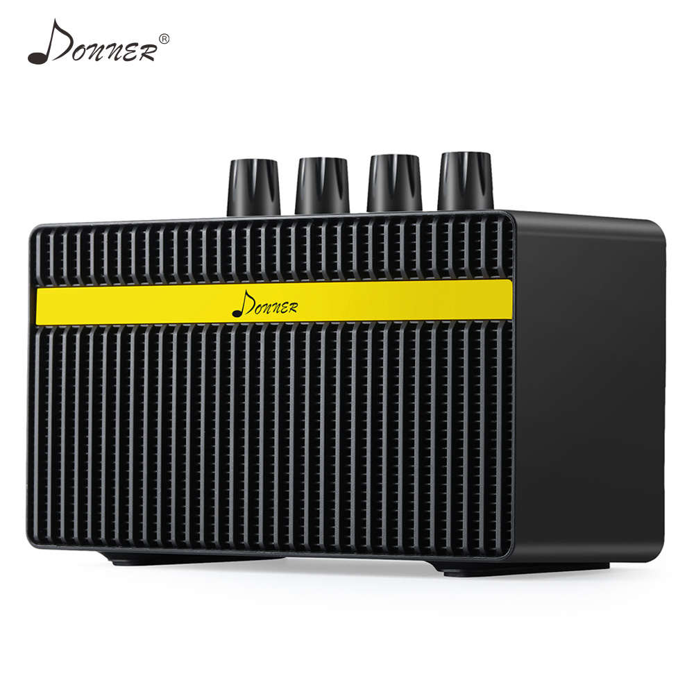 donner mini amp guitar amplifier distortion clean effects tone built in rechargeable battery 3w. Black Bedroom Furniture Sets. Home Design Ideas