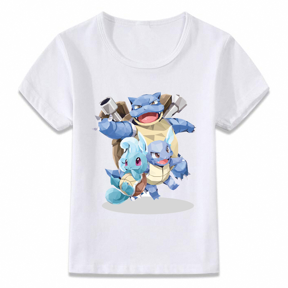 Kids Clothes T Shirt Pokemon Evolution Pikachu Squirtle Charizard T-shirt For Boys And Girls Toddler Shirts Tee Oal234