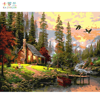 Wall Landscape Oil Painting By Numbers Home Cuadros Decoracion Pictures Canvas Oil Painting Hand Painted Oil