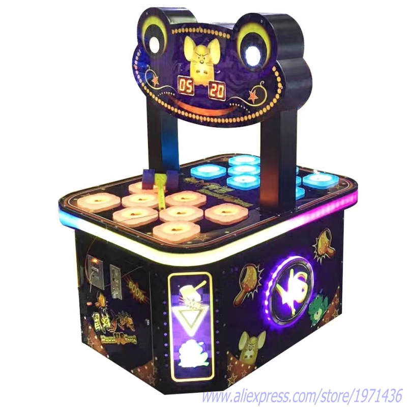 Kids Love Coin Operated Hammer Hit Frog Redemption Tickets Game Machine In Shopping Mall