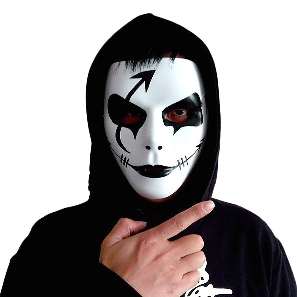 Прохладный хип-хоп танец маска Shuffle ручная роспись призрак Пластик Halloween Party реквизит Игрушки-приколы для Хэллоуина