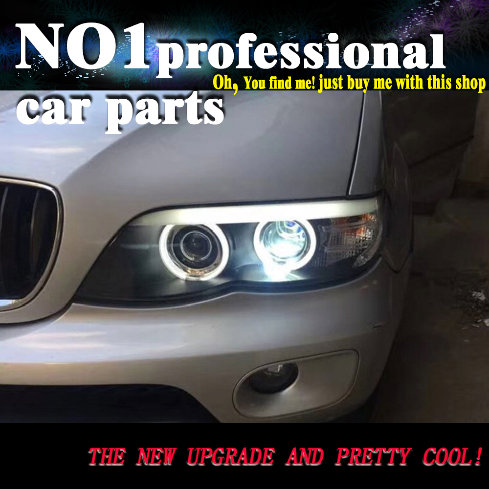 OUMIAO voiture style LED lampe frontale pour BMW E53 phare 2003-2006 pour BMW X5 phare LED H7 Xenon lentille plug and play