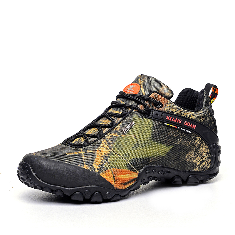 Mens Camo Mesh Breathable Jogging Trekking Travel Sneakers Lace-up Low-top Outdoor Sports Waterproof Climbing Hiking Shoes Men breathable mesh patchwork plain lace up sports shoes