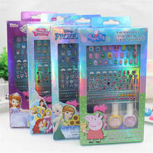 2019 nuevo maquillaje de juguete pegatinas de uñas caja para niños de dibujos animados esmalte de uñas diamante joyería de la joyería de belleza juego
